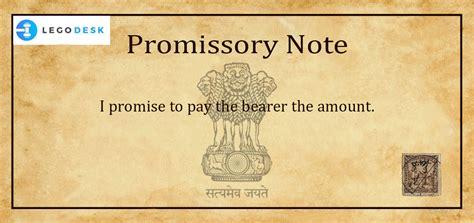 promissory note meaning  india legodesk