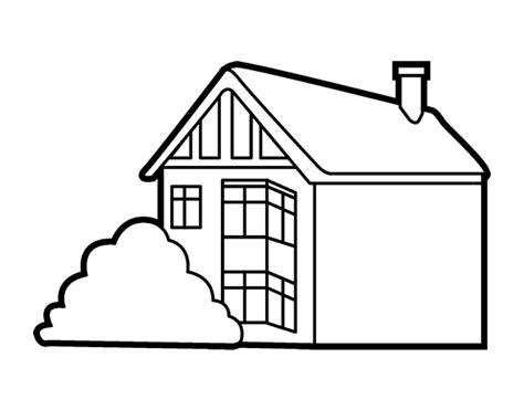 coloriage de maison moderne pour colorier coloritou