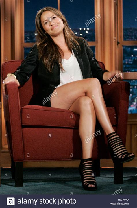 Actress Moon Bloodgood during a segment of 'The Late Late Show with Stock Photo ...