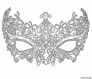 coloriage masque venitien femme grande image coloring With masquerade mask template for adults