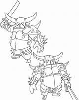 Clash Clans Coloring Printable sketch template
