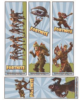 bookmarks fortnite bookmarks party printables
