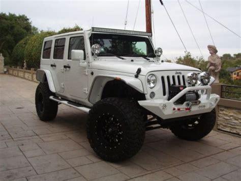 jeep wrangler white 4 door custom sell used 2014 custom sema style jeep wrangler unlimited 4