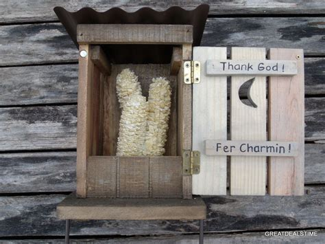 Outhouse Toilet Paper Holder/funny Bathroom Decor,rustic