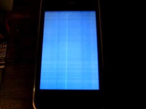 blue screen on iphone iphone blue white screen of