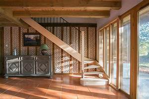 Escalier Bois Quart Tournant : escalier quart tournant bois balustres metal landes ~ Farleysfitness.com Idées de Décoration
