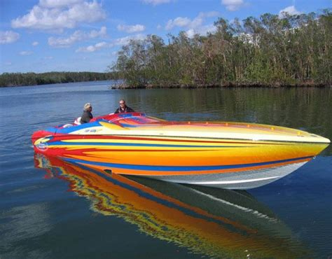 Yellow Cigarette Boat by Pin By Dennis Dahle On Powerboats