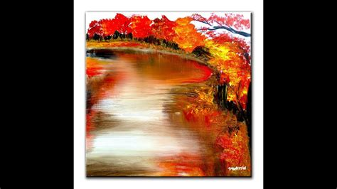 Abstract Painting Painting Reflections Landscape