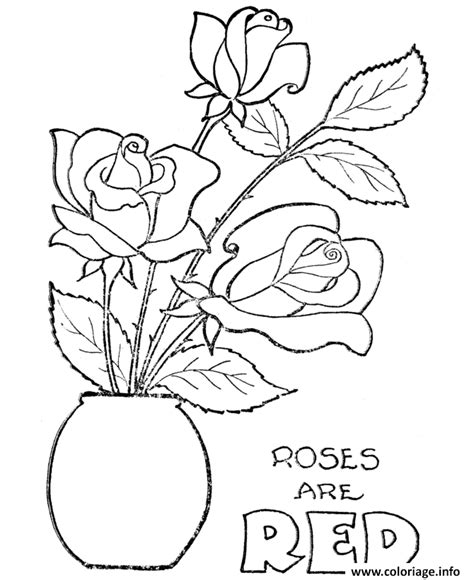 coloriage roses  dessin