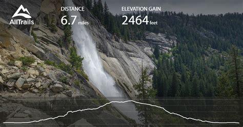 Vernal Nevada Falls The Mist Trail California