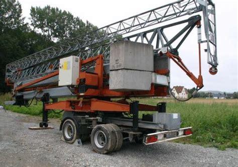 rückewagen mit kran für kleintraktor baukran schnellmontagekran besonders f 195 188 r dachdecker und