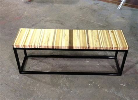 Diy Pallet Wood And Steel Bench