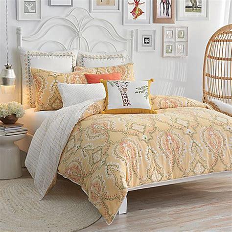 Buy Lemon Tree Pateel King Duvet Set In Yellow From Bed