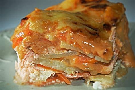 gratin de saumon pommes de terre et carottes petits