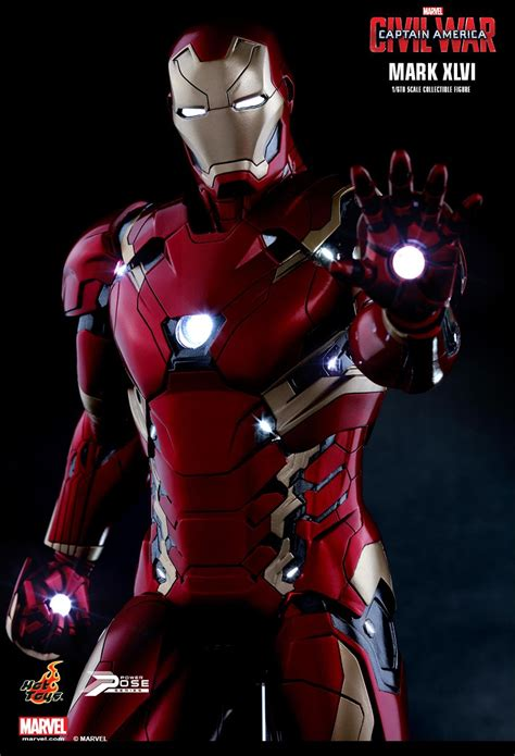 hot toys civil war iron man mark   order info