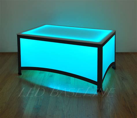 led table l 17 5 quot led arches coffee table bar modern color changing ebay