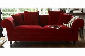 Canapé Velours Ikea : canape velours rouge maison design ~ Teatrodelosmanantiales.com Idées de Décoration