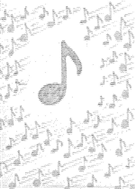 A copy and paste musical note & music symbol collection for easy access. ASCII Art Music Note 2, ASCII Musical Notes