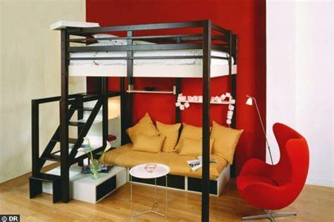lit mezzanine 2 places avec canap photos canapé lit superposé ikea