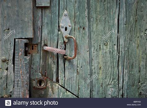 green wooden plank door stock photo  alamy