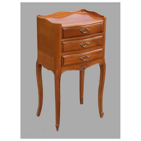 chevet louis xv 3 tiroirs florélie merisier meubles de