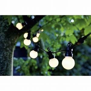 Guirlande Lumineuse Led Exterieur : guirlande lumineuse d 39 ext rieur led 10 boules blanches ~ Melissatoandfro.com Idées de Décoration