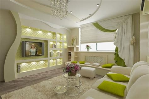 Modern-living-room-with-pop-false-ceiling-design-and-wall