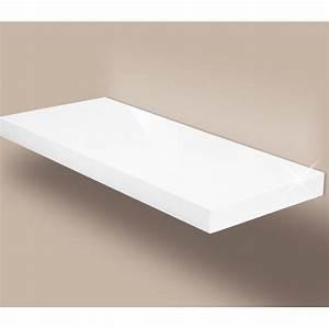 Support étagère Murale : etagere blanc brillant ~ Premium-room.com Idées de Décoration