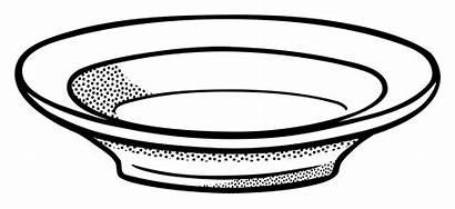 Plate Clipart Dish Outline Plates Deep Clip
