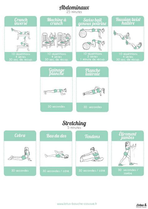 planning femme de chambre partie 2 2 programme bas du corps en salle de sport a