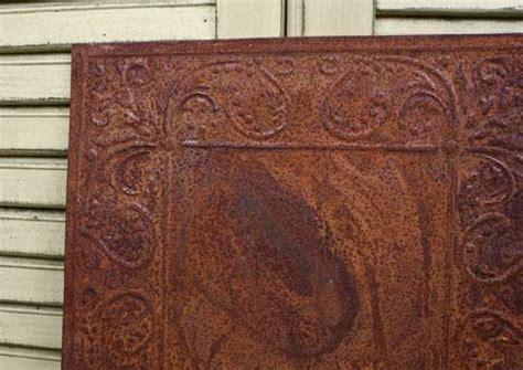 vintage inspired tin scroll embossed ceiling tile