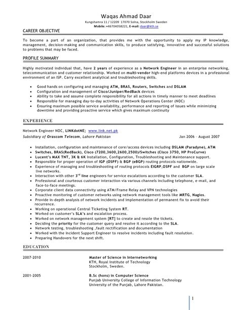 ccna engineer resume format 28 images network