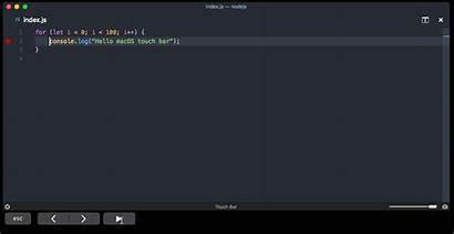 Code Mac Studio Macos Touch Bar Visual