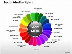Business Consulting Social Media Slide With Flower Shape