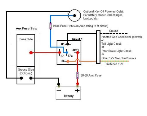 Pin Relay Wiring Diagram Topic Aux Fuse Box
