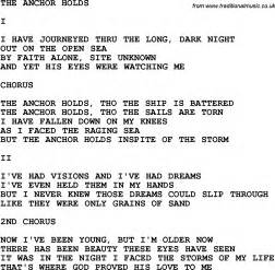 country southern and bluegrass gospel song the anchor holds lyrics