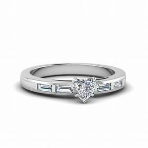 cushion cut engagement ring with baguette setting in 14k With baguette wedding ring