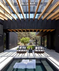 Charred Wood And Stone Create Casa Di