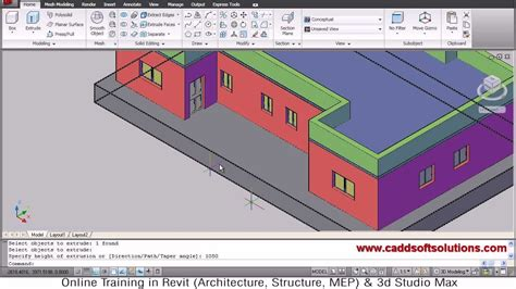 3d Home Design Tutorial Pdf by Autocad 3d House Modeling Tutorial 6 3d Home 3d