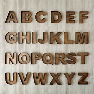 Metal wood wall letters the land of nod for Abc wooden wall letters