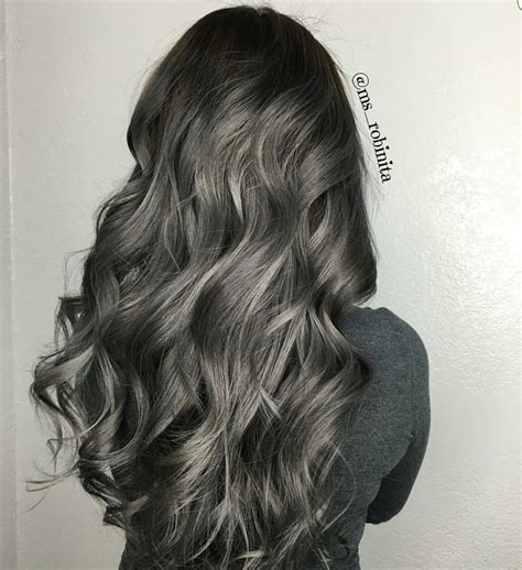 Charcoal Hair Dye by Gunmetal Grey Hair In 2019 Dyed Hair Hair