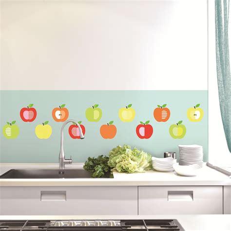 stickers de cuisine sticker série de pommes stickers cuisine ambiance