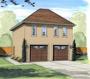 Gianna Stucco Apartment Garage Plan 125d