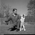 Audie Murphy poses with his dog in Perri,CA. News Photo ...