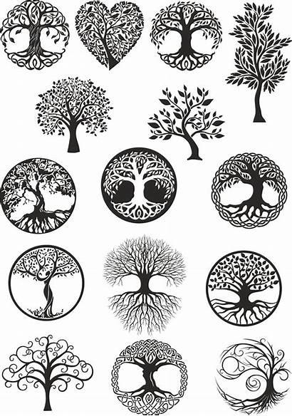 Tree Celtic Vector Digital Dxf Tattoo Norse