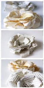 Basteln Mit Buchseiten : rosen aus buchseiten roses made from book pages upcycling upcyclingmay2014 pinterest ~ Eleganceandgraceweddings.com Haus und Dekorationen