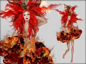 Fire Element Costume Goddess of water costume fire ...