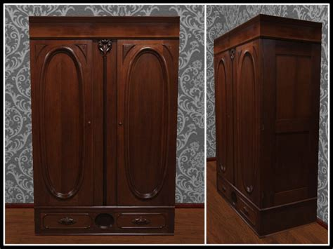 Wooden Clothes Wardrobe by Second Marketplace Re Carved Wood Armoire One