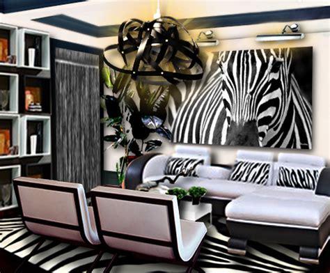 decoration zebre chambre un salon noir et blanc inspiration zèbre floriane lemarié