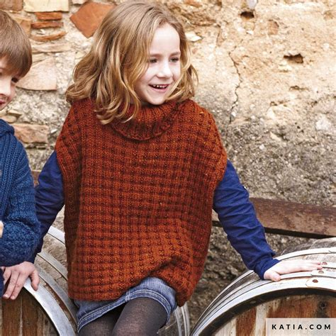poncho kids autumn winter models patterns
